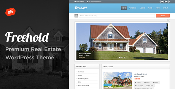 Wordpress Immobilien Template Freehold - Responsive Real Estate Theme