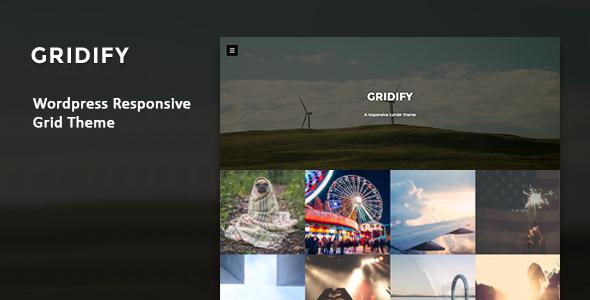 Wordpress Blog Template Gridify - Fullsceen Responsive Grid WP Theme