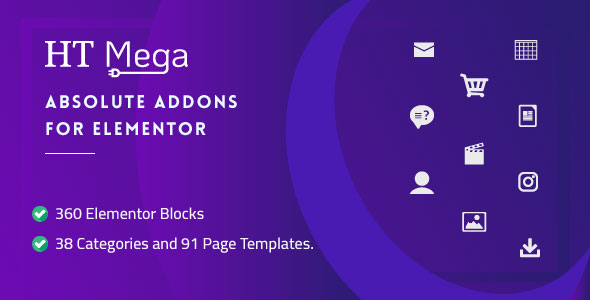 Wordpress Add-On Plugin HT Mega Pro – Absolute Addons for Elementor Page Builder
