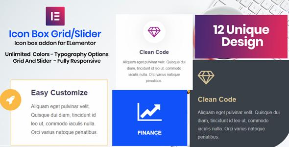 Wordpress Add-On Plugin Icon Box - Elementor Addon Plugin