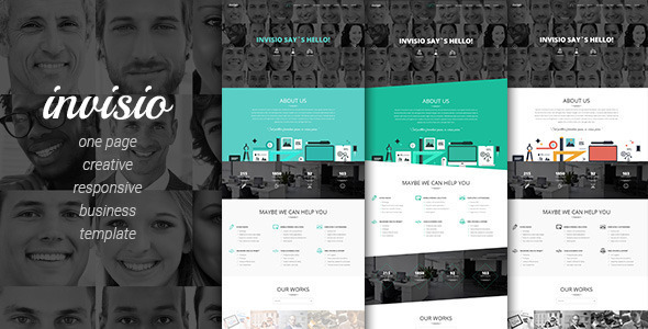 Wordpress Corporate Template Invisio Business - Creative Onepage Theme