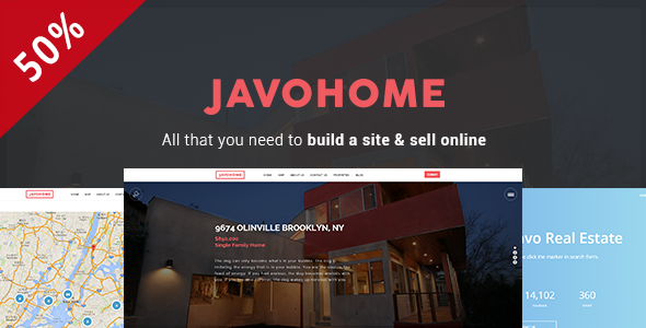 Wordpress Immobilien Template Javo Home - Real Estate WordPress Theme
