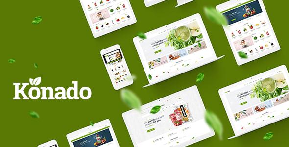 Wordpress Shop Template Konado - Organic Theme for WooCommerce WordPress