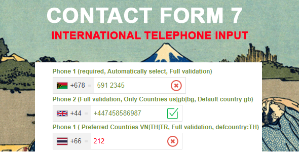 Wordpress Formular Plugin Contact Form 7 International Telephone Input