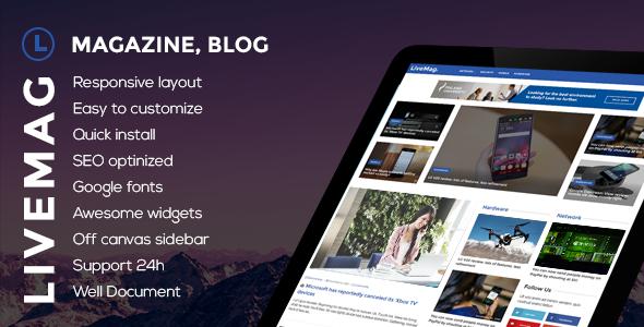 Wordpress Blog Template LiveMag - Multipurpose Magazine Theme