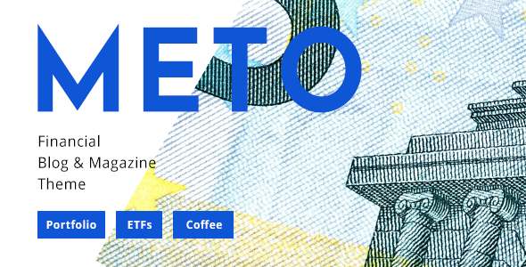 Wordpress Blog Template Meto - Financial Blog - Designed for Investors, Traders and Economists