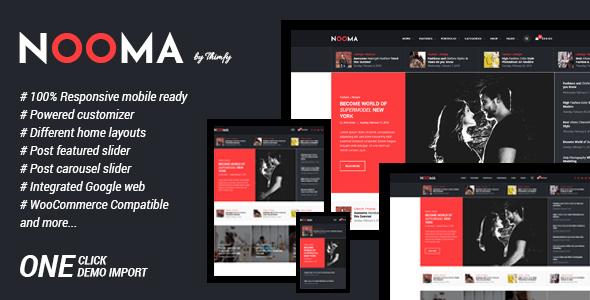 Wordpress Blog Template Nooma - A Responsive WordPress Blog Theme