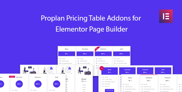 Wordpress Add-On Plugin Proplan - Pricing Table Addons for Elementor Page Builder