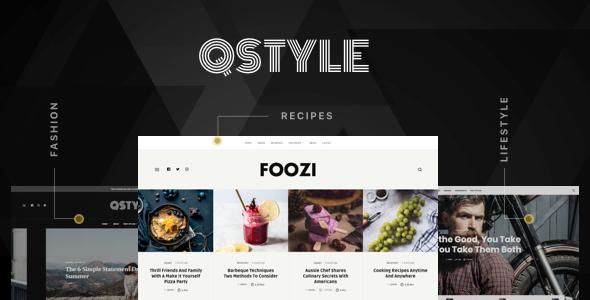 Wordpress Blog Template Qstyle - A WordPress Theme For Bloggers
