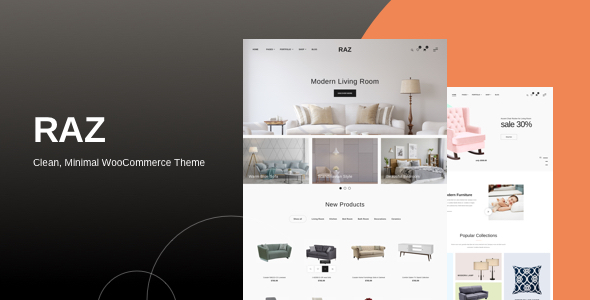 Wordpress Shop Template Raz - Clean, Minimal WooCommerce Theme