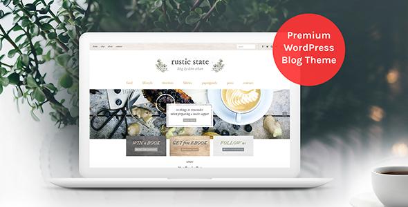 Wordpress Blog Template Rustic State WordPress Theme