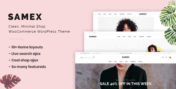 Wordpress Shop Template Samex - Clean, Minimal Shop WooCommerce WordPress Theme