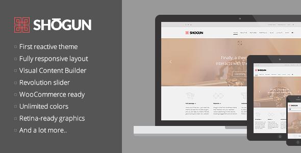 Wordpress Corporate Template Shogun - the First Reactive WordPress Theme