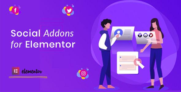 Wordpress Add-On Plugin Social Addons for Elementor (Pro)