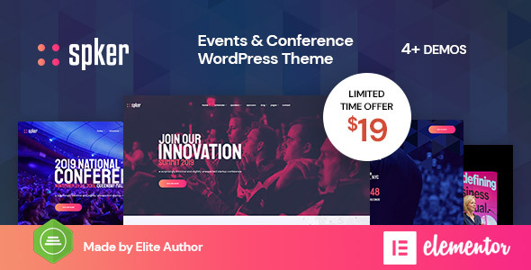 Wordpress Entertainment Template Spker - Conference & Event WordPress Theme
