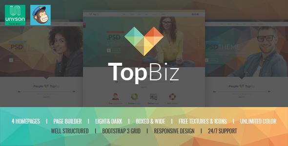 Wordpress Corporate Template TopBiz - Responsive Corporate WordPress Theme