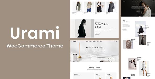 Wordpress Shop Template Urami WP - Modern minimalist WooCommerce theme