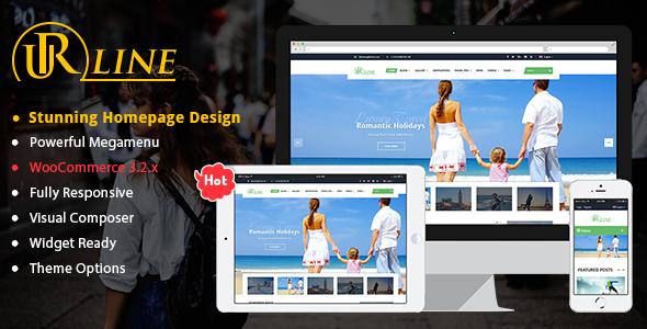 Wordpress Blog Template Urline - Creative WordPress Travel News And Magazine Theme