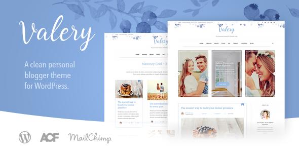 Wordpress Blog Template Valery CD - Personal Blog Theme for WordPress