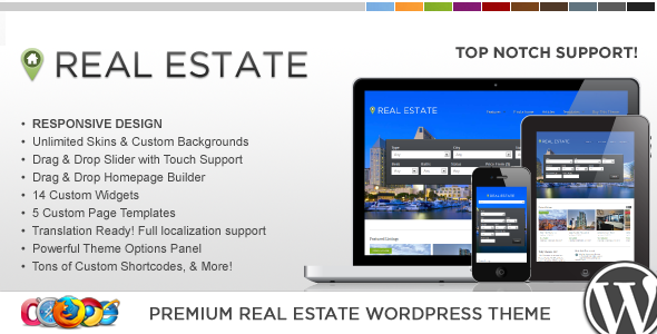 Wordpress Immobilien Template WP Pro Real Estate 4 Responsive WordPress Theme