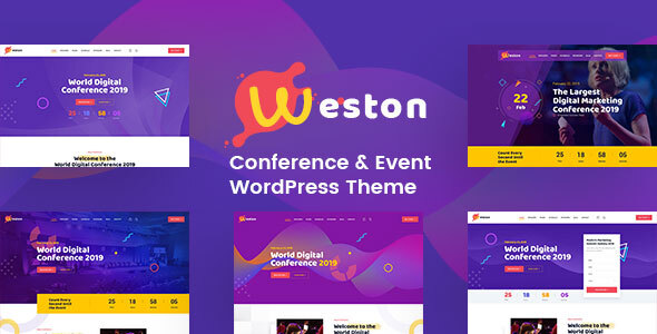 Wordpress Entertainment Template Weston - Conference & Event WordPress Theme