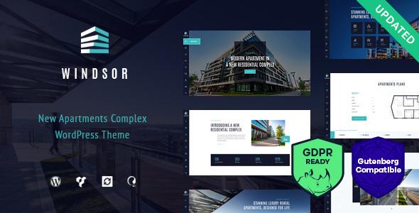 Wordpress Immobilien Template Windsor - Apartment Complex / Single Property WordPress Theme