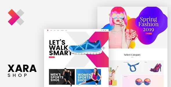 Wordpress Shop Template Xara - Responsive WooCommerce Shop Theme