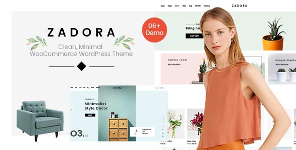 Wordpress Shop Template Zadora - Clean, Minimal WooCommerce WordPress Theme