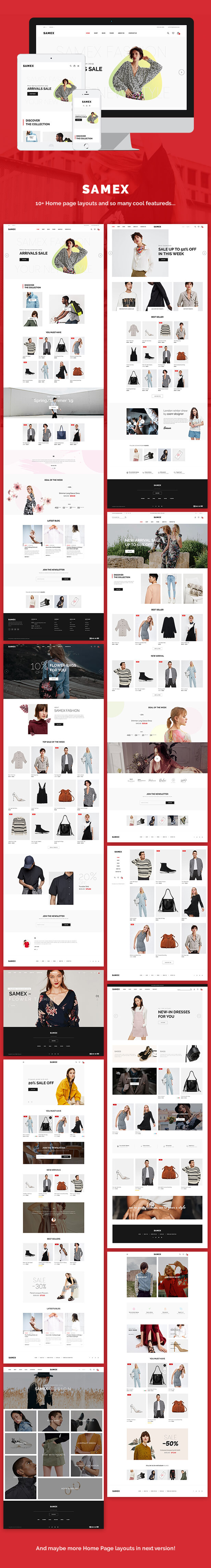 Samex - Sauberes, minimalistisches WooCommerce WordPress Theme - 1