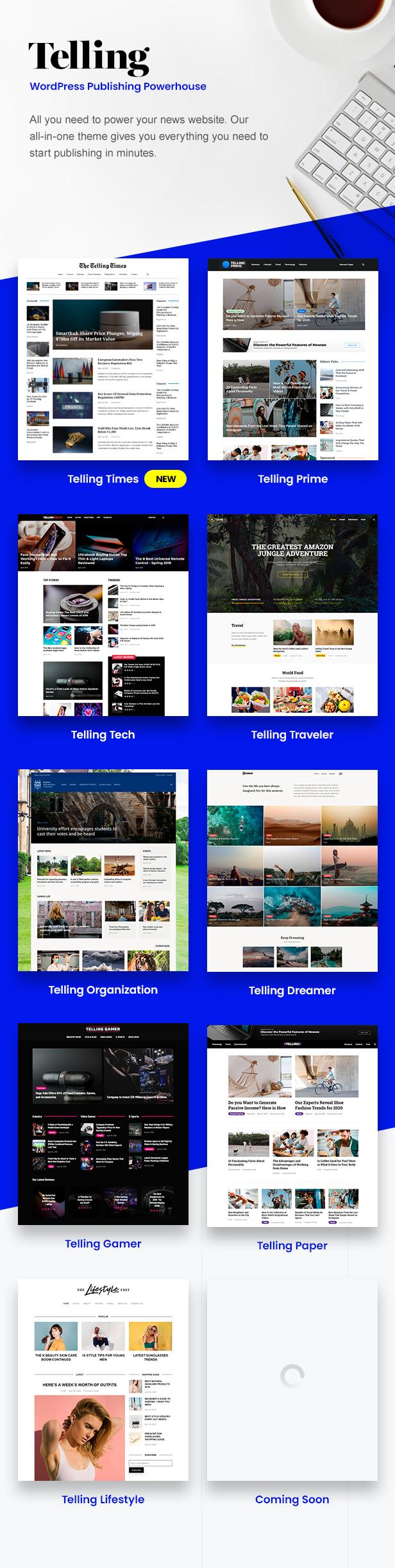 Telling - Multi-Concept News und Publishing Theme - 1