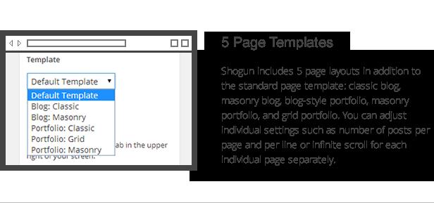 Shogun-Funktionen - Seitenvorlagen