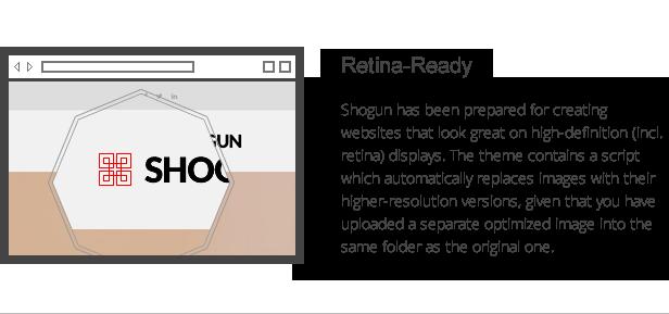 Shogun-Eigenschaften - Retina-Ready