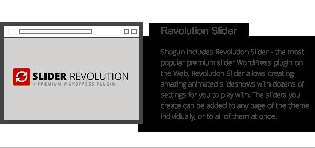 Shogun Funktionen - Revolution Schieberegler