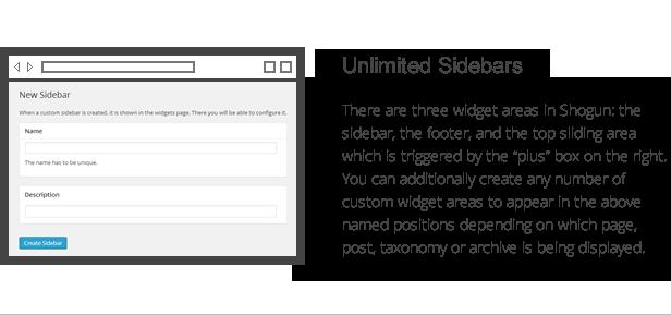 Shogun-Funktionen - unbegrenzte Seitenleisten