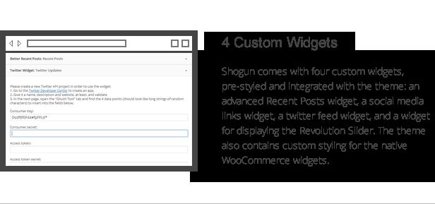 Shogun-Funktionen - 4 benutzerdefinierte Widgets