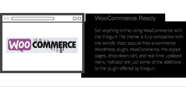 Shogun-Funktionen - Integration von Woocommerce