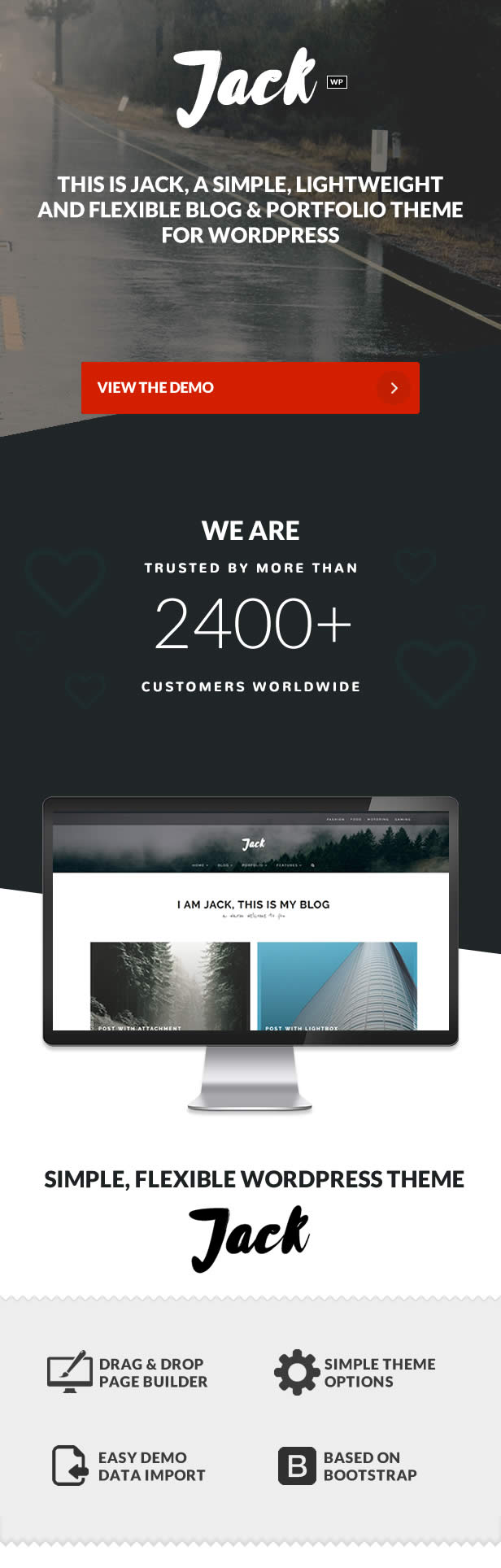 Jack - Clean Modern Blogging & Fotografie Theme - 2