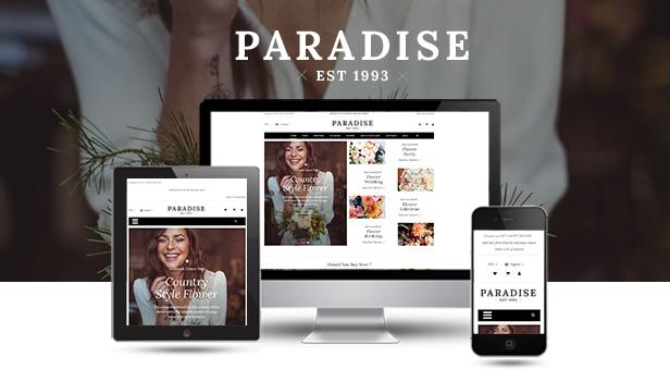 Paradise - Reaktionsschnelles WordPress-Theme für WooCommerce - Reaktionsschnell