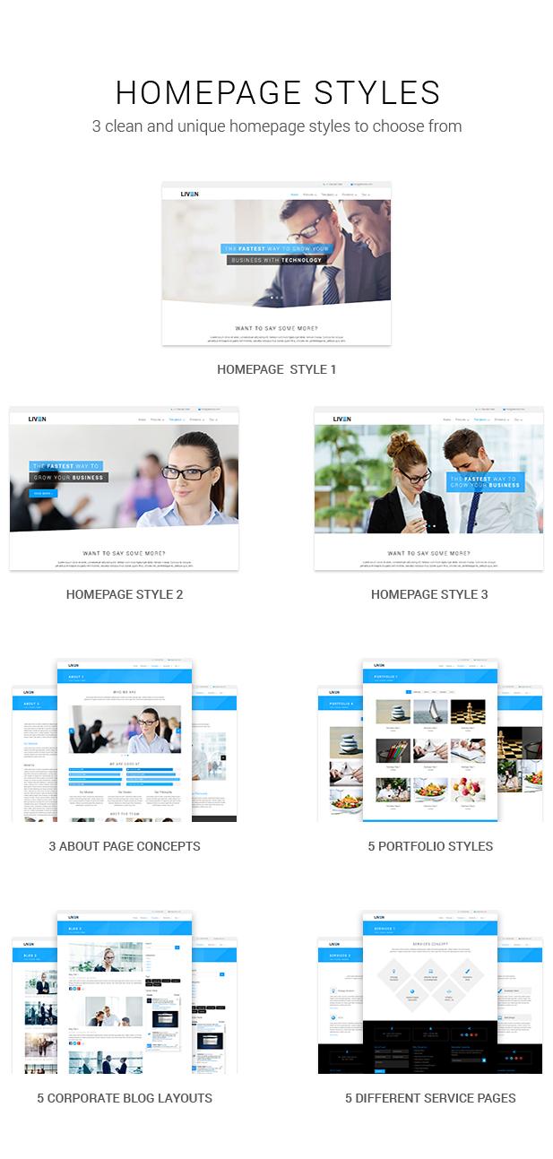 Liven - Modern Corporate - Business & Portfolio Theme für WordPress - 5