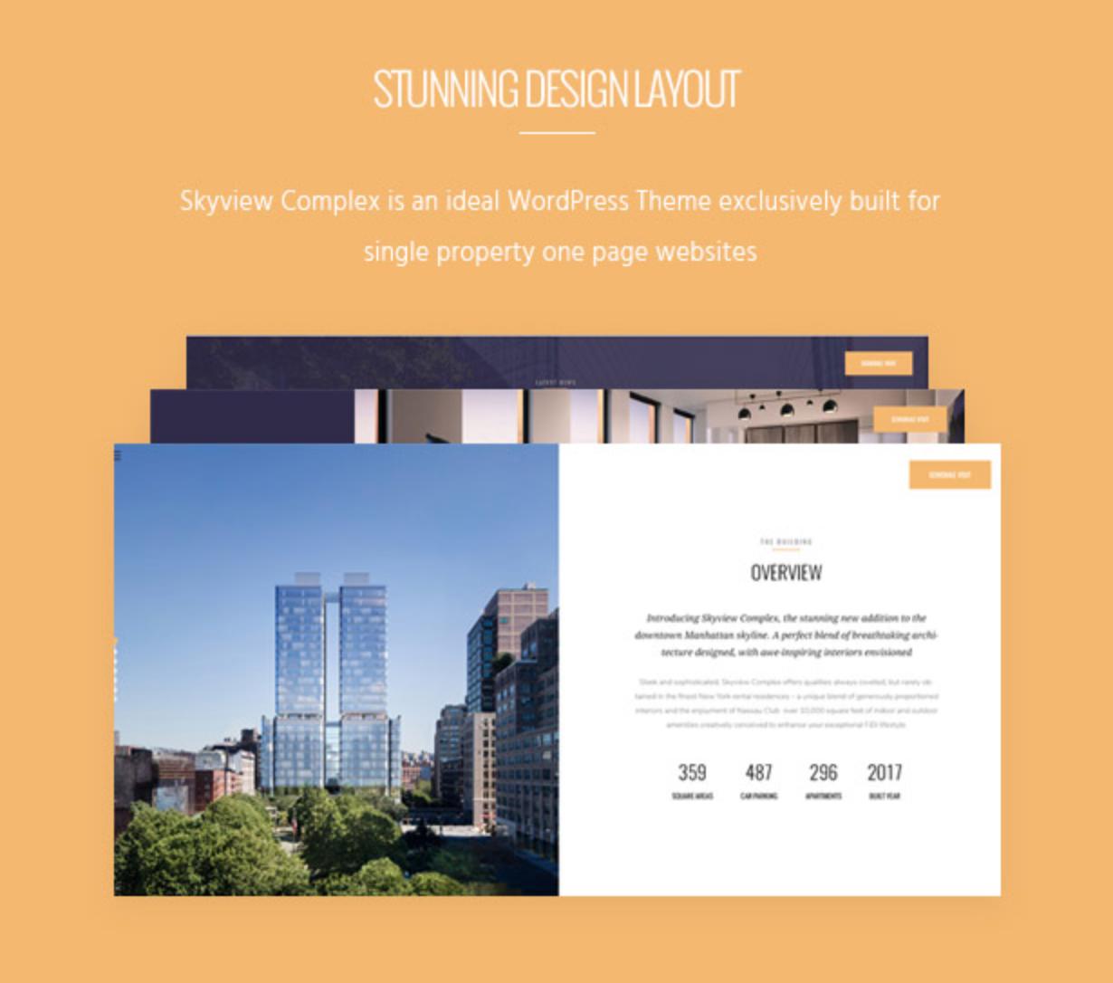 Skyview Complex Design Layout Einzelimmobilien & Immobilien WordPress-Themes