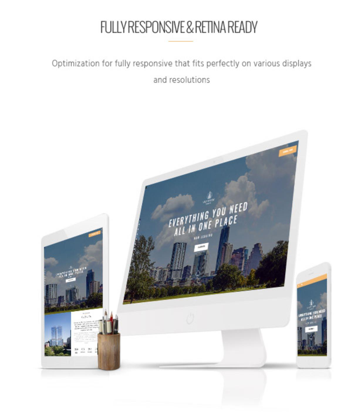 Skyview Complex Responsive & Retina Ready WordPress-Themes für Einzelobjekte und Immobilien
