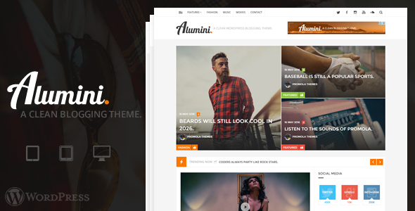 Wordpress Blog Template Alumini - WordPress Blogging / Magazine Theme