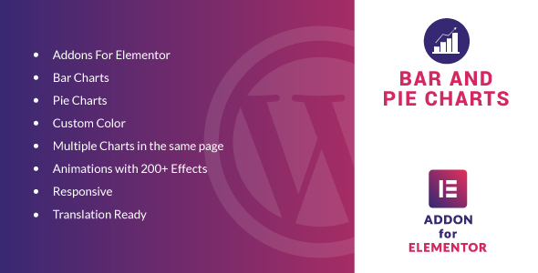 Wordpress Add-On Plugin Bar and Pie Charts for Elementor WordPress Plugin
