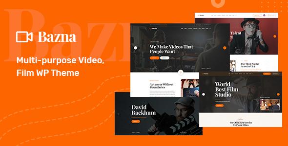 Wordpress Entertainment Template Bazna   Multipurpose Film Studio WordPress Theme