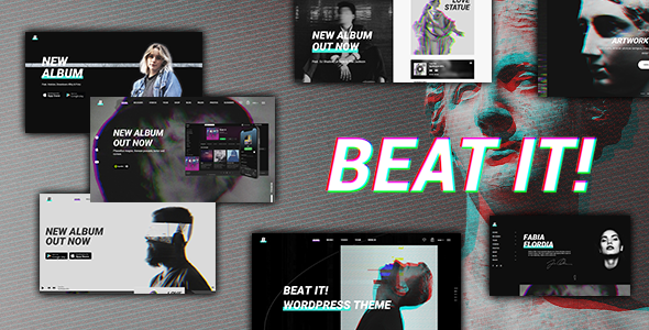 Wordpress Entertainment Template Beatit - A Modern Music WordPress Theme