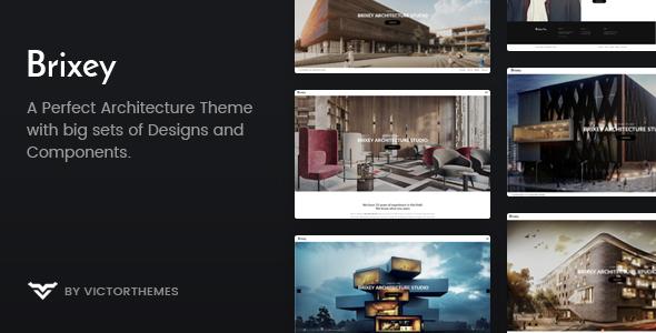 Wordpress Immobilien Template Brixey – Responsive Architecture WordPress Theme
