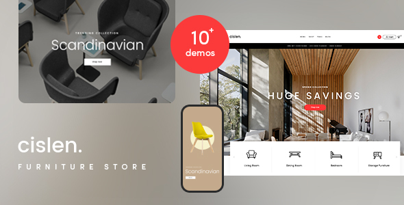 Wordpress Shop Template Cislen - Furniture WooCommerce Theme - RTL