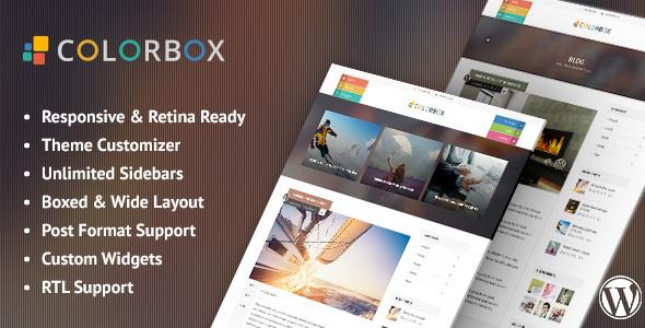 Wordpress Blog Template Colorbox - Responsive WordPress Blog Theme