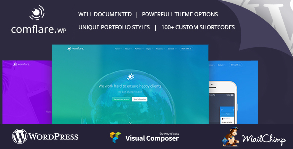 Wordpress Corporate Template Comflare - Multipurpose WordPress Theme
