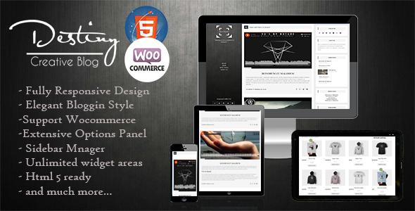 Wordpress Blog Template Destiny - Simple Blogging Theme